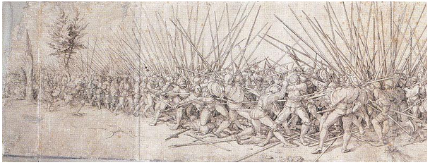 "A battle scene after Hans Holbein's ""Bad War"""